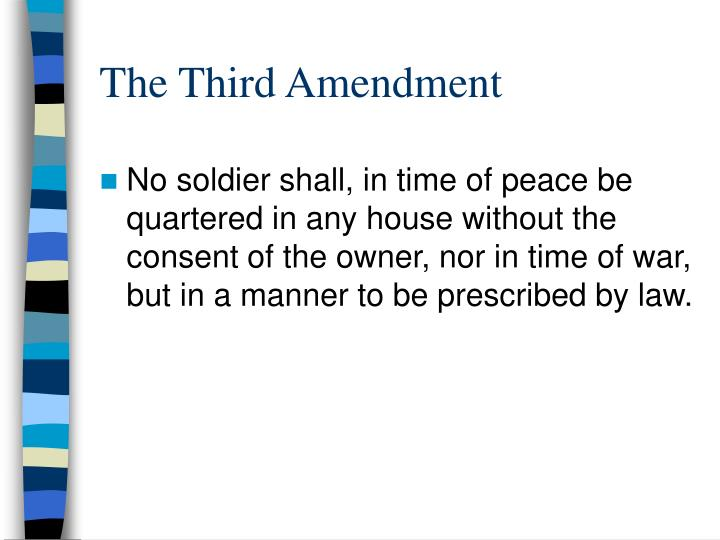 the third amendment n.