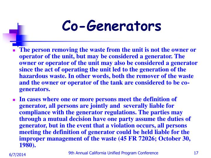 Co-Generators