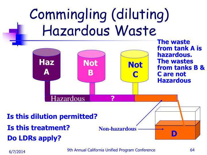 Commingling (diluting) Hazardous Waste