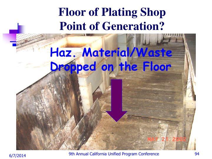 Floor of Plating Shop