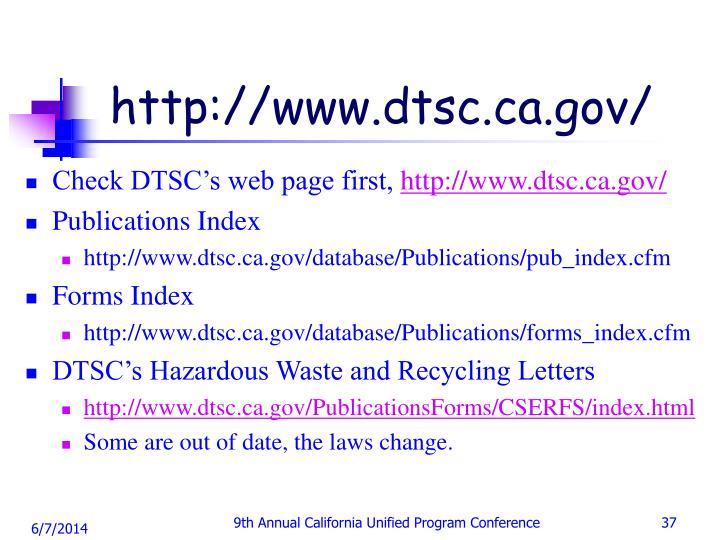 http://www.dtsc.ca.gov/