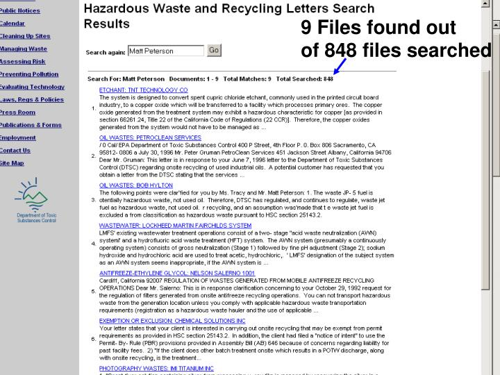 9 Files found out