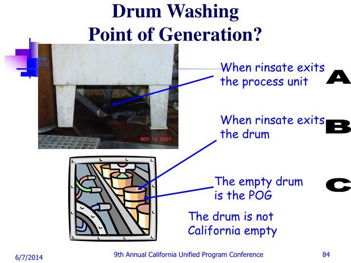 Drum Washing