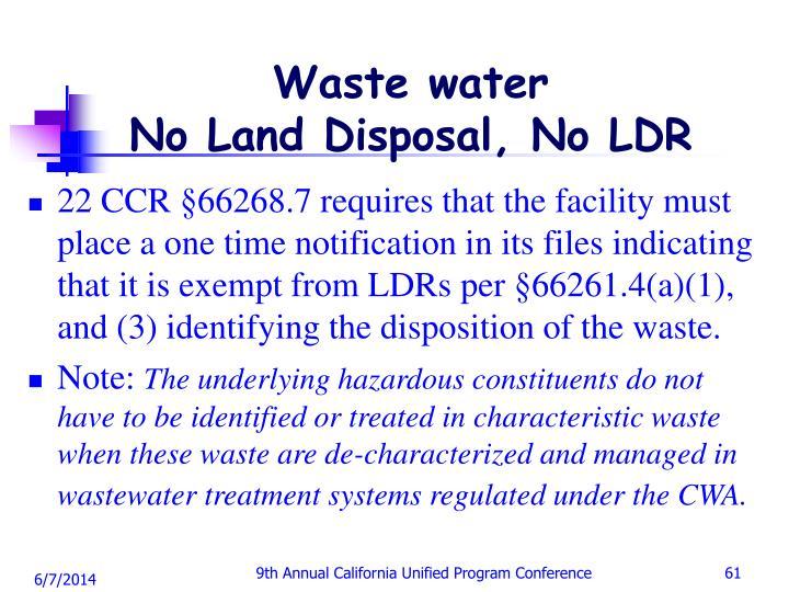Waste water