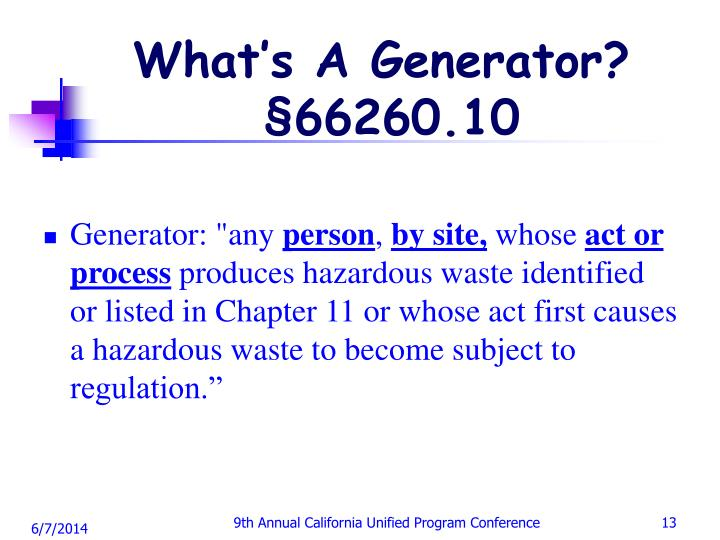 What's A Generator?