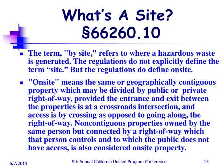 What's A Site?