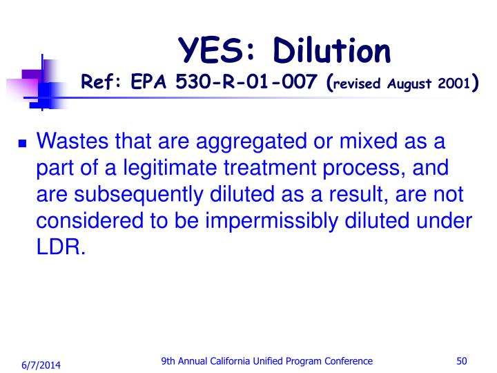 YES: Dilution