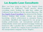 los angeles loan consultants