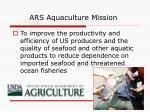 ars aquaculture mission