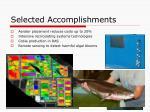 selected accomplishments3