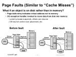 page faults similar to cache misses