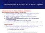 carbon capture storage is it a realistic option
