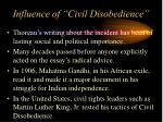 influence of civil disobedience