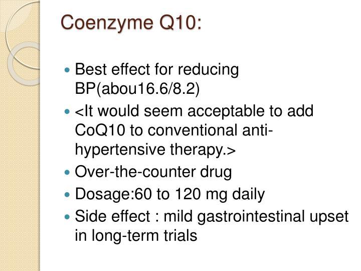 Coenzyme Q10: