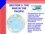 section 3 the war in the pacific