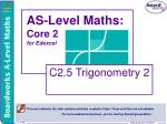 as level maths core 2 for edexcel