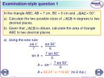 examination style question 1