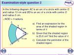 examination style question 2