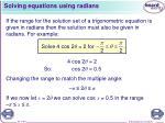 solving equations using radians1