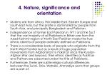 4 nature significance and orientation