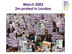 march 2003 2m protest in london