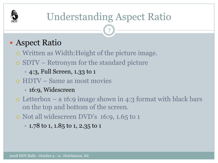 Understanding Aspect Ratio
