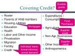 covering credit