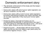 domestic enforcement story