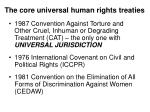 the core universal human rights treaties