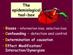 the epidemiological tool box1