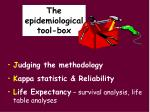 the epidemiological tool box3