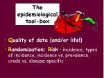 the epidemiological tool box5
