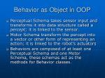 behavior as object in oop1