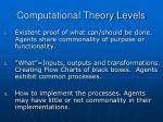 computational theory levels
