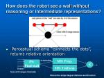 how does the robot see a wall without reasoning or intermediate representations