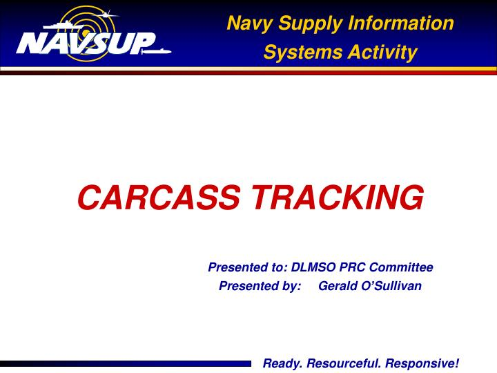 carcass tracking n.