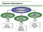 reaction optimizations