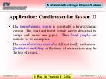 application cardiovascular system ii