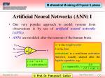 artificial neural networks ann i