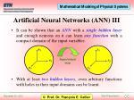 artificial neural networks ann iii