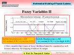 fuzzy variables ii