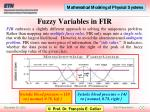 fuzzy variables in fir