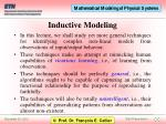 inductive modeling