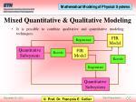 mixed quantitative qualitative modeling