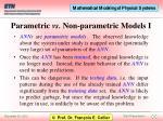 parametric vs non parametric models i