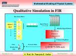 qualitative simulation in fir