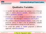 qualitative variables