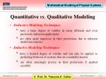 quantitative vs qualitative modeling