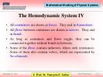 the hemodynamic system iv