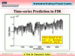 time series prediction in fir